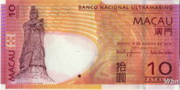 Macau (BNU) 10 Patacas (P80) 2010 -UNC - - Macao
