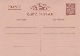 France Prix De Vente Prepaid Postcard Unused - Postmark Collection (Covers)