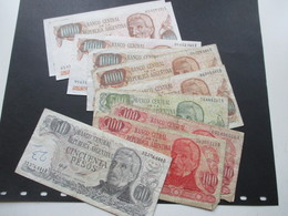 Argentinien 1970er Jahre Geldscheine Insgesamt 6850 Pesos 6x Mil Pesos (2x Davon Sehr Guter Zustand) Sonst Gebraucht!!!! - Argentinien