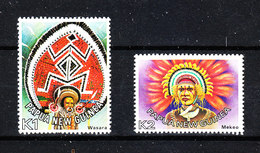 Papua & Nuova Guinea   -  1977.  Parrucche Ed Acconciature Tribali. Tribal Wigs And Hairstyles. Complete MNH Series - Costumi