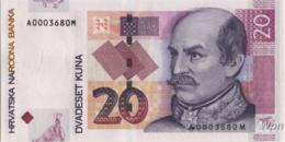 Croatie 20 Kuna (P39) 2001 -UNC- - Croacia
