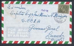 Rara Marca De Dia 'Guimarãis'. Carta Guerra Colonial Governo Geral Luanda. Letter Colonial War General Government Angola - 1910-... República