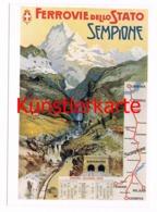 458 L. Gignoni Ferrovie Dello Stato Sempione Künstlerkarte - Altri