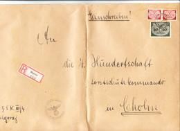 III. Reich, Brief GENERALGOUVERNEMENT  REKO Bilgoroy Nach Cholm , Forstschutzkommando III. Zug 4. Hundertschaft - Briefe U. Dokumente