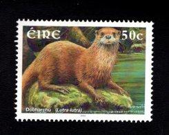 758972966 2002 SCOTT 1400 POSTFRIS  MINT NEVER HINGED EINWANDFREI  (XX) MAMMALS LUTRA LUTRA - 1949-... République D'Irlande