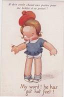 Bt - Cpa Illustrée Raphael Tuck (Oilette) - My Word ! He Has Got Hot Feet! - Il Doit Avoir Chaud Aux Pattes (n° 8827) - Tuck, Raphael