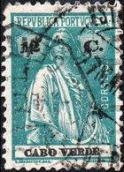 CAPO VERDE, CAPE VERDE, PORTUGUESE COLONY, CERES, 1922, 12 C., USATO Mi. 185C,  Scott 183F - Cap Vert