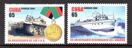 CUBA 4404/05 Char , Médaille , Bateau - Militares