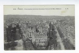 CPA 75 Paris Panorama Vers Les Avenues Carnot Et Mac Mahon - Distrito: 17