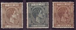 Año 1878.PUERTO RICO 18-20-22*MH NUEVOS. VC 49 EUROS. CENTRAJES LUJO - Puerto Rico