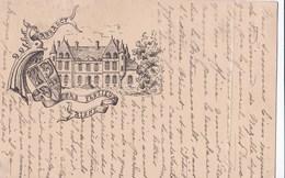 Carte 1900 Château D'Arrancy Par Festieux : Armoirie ,blason De Famille - France