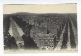 CPA 75 Paris L'Avenue Du Bois De Boulogne Et L'Avenue De La Grande Armée - Arrondissement: 16