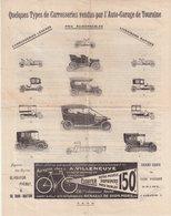 QUELQUES TYPES DE CARROSSERIES VENDUS PAR L'AUTO -GARAGE DE TOURAINE . - Cars