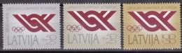 Lettland, 1992, 323/25 , Nationalen Olympischen Komitees, MNH ** - Letonia