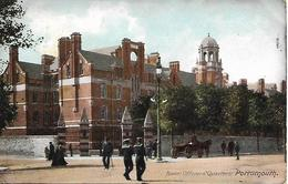 Early Colour Postcard, Naval Officers Quarters, Portsmouth, Sailors, Horse And Cart. 1906. - Portsmouth