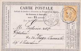 Lavaveix-les-Mines ( AUB BUS ) S  / C.P. T.P. + N° 55 C.P. Datée Du 8 Juin 76 - 1849-1876: Periodo Clásico