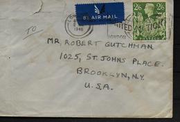 GRANDE BRETAGNE Lettre 1946 Londres George VI - Cartas
