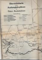 AK WZ L3  Übersichtskarte Zu Den Aushangfahrplänen Der Österr. Bundesbahnen Von K. Dietz 1947 - Europe