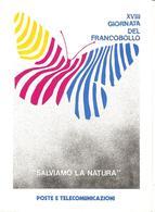 ITALIA - REGGIO E.  XVIII Giornata Francobollo Depliant Con Serie Nuova E 2 Annulli Filatelico E Premiazione Vincitori - Giornata Del Francobollo