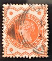 REINE VICTORIA 1887/900 - OBLITERE - YT 91 - MI 86 (ORANGE-ROUGE) - 1840-1901 (Victoria)