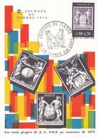 France 1976 Journee Du Timbre Maximum Card Unused - Cartoline Maximum