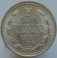 Russia 5 Kopeks 1888 UNC - Silver - Russia
