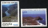 ESPAÑA 2002 - NATURALEZA - CABO DE GATA Y CAÑONES DEL SIL - Edifil Nº 3884-3885 - Yvert 3449-3450 - Protección Del Medio Ambiente Y Del Clima
