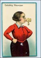 Y4901/ Humor Litho HWB AK Garstige Frau, Mund Mit Schraubstock  Ca.1920  - Humour