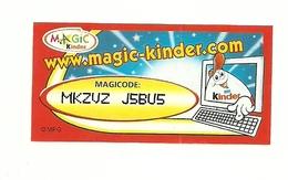 Kinder Ferrero - Magicode 1 - Istruzioni