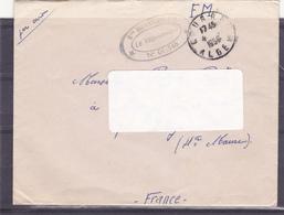 """LETTRE Franchise Militaire, Tampon """"Bataillon. Infanterie N° 01/546 D'Alger Pour La Hte Marne - A Voir - Marcophilie (Lettres)"""