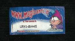 Kinder Ferrero - Magicode 3 - I Magicanti - Istruzioni