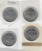 1 Franc 1979,1980,1981,1982 Scellées - France
