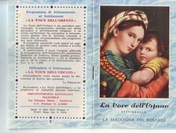 83)librettino Religioso La Voce Dell'orfano - La Madonna Del Rosario - Religion