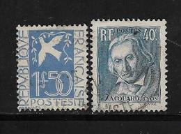 France Timbres De 1934  N°294 Et 295  Oblitérés Cote 18€ - Used Stamps