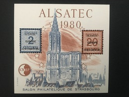 BLOC NEUF CNEP N° 1- Strasbourg 1980 - ALSATEC - Cathédrale De Strasbourg - CNEP