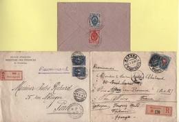 Russie - Lot De 3 Lettres Dont 2 Recommandees - Voir Scan - 1857-1916 Imperium