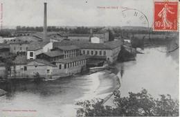 SAIX ( Tarn ) : USINE Et Sa Chaussée Sur Le Tarn (1908 ) -Labouche - Autres Communes