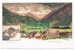 494 Otto Strützel Hindelang Hochvogel Künstlerkarte - Other Illustrators
