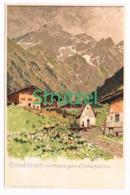 495 Otto Strützel Einödsbach Mädelegabel Künstlerkarte - Other Illustrators