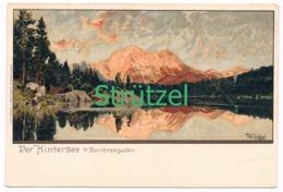 496 Otto Strützel Hintersee Berchtesgaden Künstlerkarte - Other Illustrators