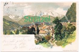 497 Otto Strützel Berchtesgaden Watzmann Künstlerkarte - Other Illustrators