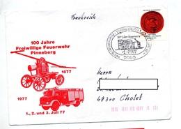 Lettre  Cachet Pinneberg 100 Ans Sapeur Pompier Illustré Pompe Camion - [7] République Fédérale