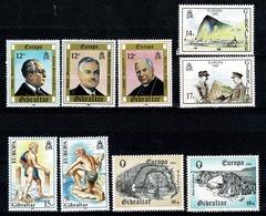 Gibraltar 1980/83 EUROPA Yv 407/09**, 418/19**, 458/59**, 471/72**,   Mi 405/07**, 416/17**, 451/52**, 463/64** MNH - Gibraltar