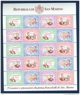 San Marino 1997 120° Anniversario Francobollo  Minifoglio Da 5 Sass.1570/73 **/MNH VF - Blocs-feuillets