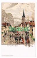 501-2 Otto Strützel Partenkirchen Dorfbild Künstlerkarte - Other Illustrators