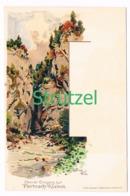 502 Otto Strützel Eingang Partnachklamm Künstlerkarte - Other Illustrators