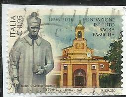 ITALIA REPUBBLICA ITALY REPUBLIC 2016 FONDAZIONE ISTITUTO SACRA FAMIGLIA MONS. D. POGLIANI € 0,95 USATO USED OBLITERE' - 6. 1946-.. Repubblica