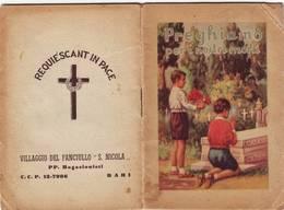 """85)librettino Religioso Preghiamo Per I Nostri Morti """"villaggio Del Fanciullo S.nicola - Bari"""" - Religion"""