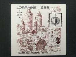 BLOC NEUF** CNEP N°9 - Metz 1988 - Lorraine - Salon Philatélique De Metz - CNEP