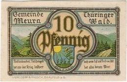 Alemania (NOTGELD) - Germany 10 Pfennig 1-5-1921 Meura - [11] Emisiones Locales